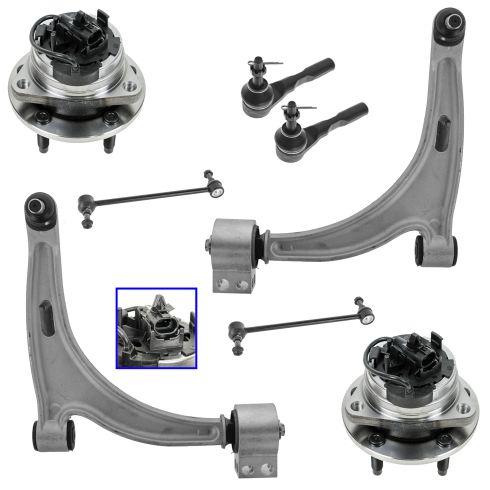 07-09 Saturn Aura; 05-10 G6; 04-11 Malibu Front Steering & Suspension Kit (Set of 6)