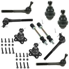 95-00 Suburban Escalade Tahoe Yukon K1500 K2500 4WD Steering & Suspension Kit (10 Piece)