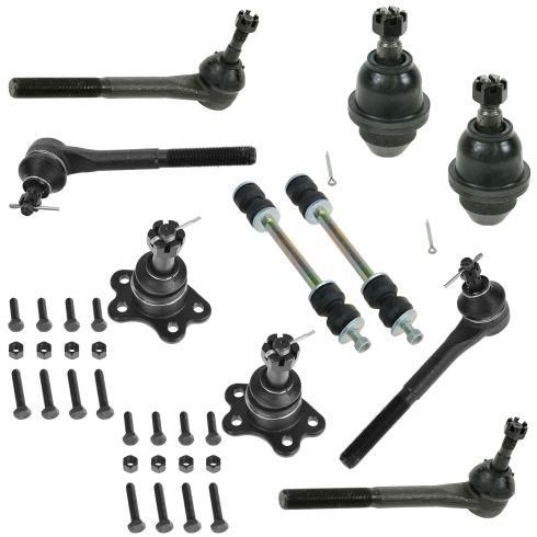 95-00 Suburban Escalade Tahoe Yukon K1500 K2500 4WD Steering & Suspension Kit (10 Piece)