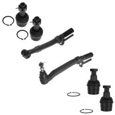 05-11 Ford F250SD, F350SD w/4WD Front Outer Tie Rod End & Ball Joint Kit (Set of 6)