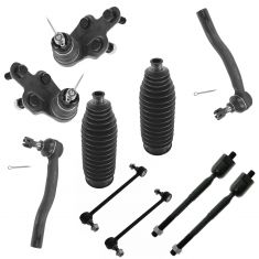 02-03 Camry, ES300 FrontTie Rod End Bellow Balljoint & Sway Bar Link Kit (Set of 10)