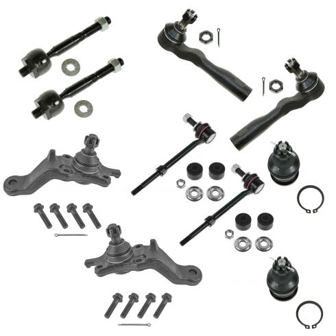 10pc Inner Outer Tie Rod Upper Lower Ball Joints for 2003 Toyota Tundra