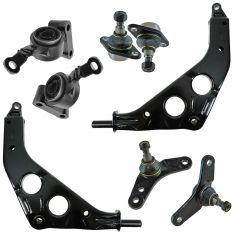 02-06 Mini Cooper; 07-08 Cooper Convertible Front Lower Control Arm, Bushing, Ball Joint Kit (8pc)