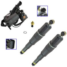 07-13 GM Full Size SUV, Avalanche Air Ride Suspension Compressor w/Dryer & Passive Shock Kit (3pc)
