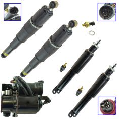 00-06 Chevy GMC Cadillac Full Size SUV Front & Rear Complete Air Suspension Kit (Set of 5)