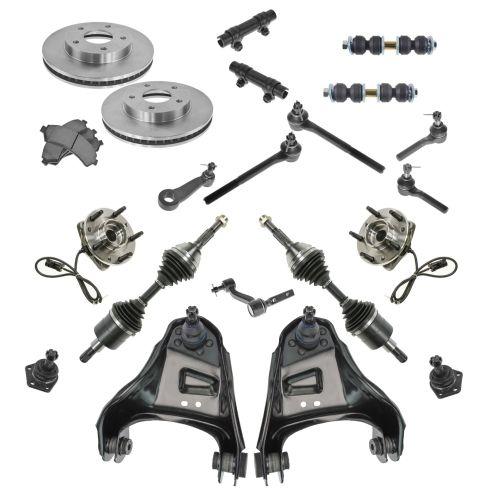 98-05 Chevy Blazer; S10; 98-01 Jimmy S15; Hombre; Bavada Steering Suspension & Brake Kit (21pcs)
