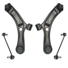 07-13 Suzuki SX4 Front Lower Control Arm & Sway Link Kit (4pc)