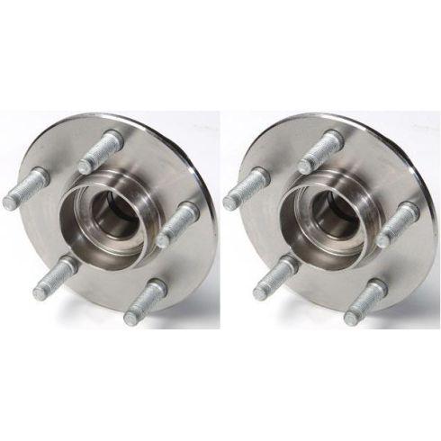 Pair Rear Wheel Hub Bearing Assembly w//o ABS