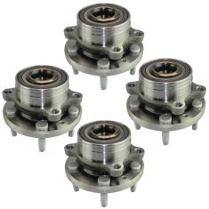 11-16 Ford Explorer Front & Rear Wheel Bearing & Hub Assembly (Set of 4)