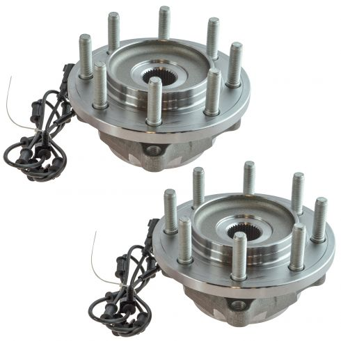 12-13 Ram 2500 3500 Front Wheel Hub & Bearing Assembly Pair