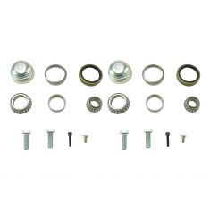 94-00 C280; 98-04 SLK230 Front Wheel Bearing, Seal, Cap Kit Pair
