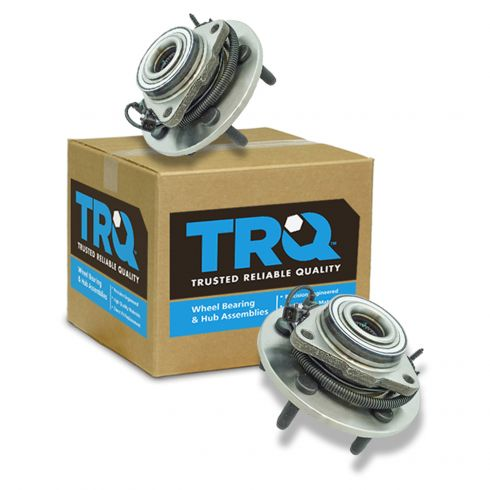12-16 Ram 1500 w/ 4WD Front Wheel Hub & Bearing Assembly Pair