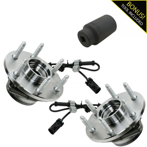 1999-05 GM Truck SUV 4WD Front Hub Bearing Pair with 36mm Socket