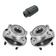 1996-05 Dodge Chrysler Front Hub Bearing Pair with 32mm Socket