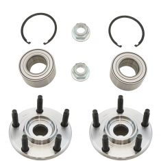 07-14 Ford Edge Front Wheel Bearing & Hub Kit Pair (includes hub, bearing , nut, & snap ring)