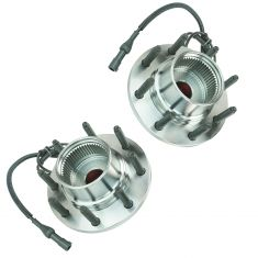 00-02 Ford Excursion Super Duty 4x4 w/4 whl ABS Frt Hub & Brg PAIR (TIMKEN)