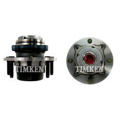 99 Ford Super Duty Truck SRW 4WD 2 Whl ABS Front Wheel Bearing & Hub Assy PAIR (Timken)