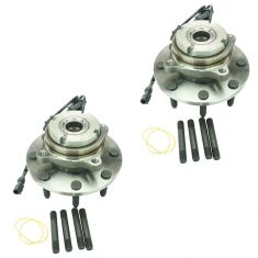 99 Ford Super Duty Truck SRW 4WD 4 Whl ABS Front Wheel Bearing & Hub Assy PAIR (Timken)