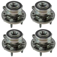11-16 Ford Explorer; 13-16 Explorer Police Interceptor Front & Rear Wheel Hub Set of 4 (Timken)