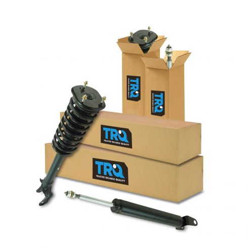 11-15 Jeep Grand Cherokee (exc. SRT, air susp) Front Strut & Spring Assembly & Rear Shock Set (4pc)