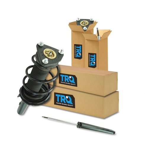 12-13 Ford Focus (exc Electric) Front Strut & Spring Assembly & Rear Shock Absorber Kit (4pc)