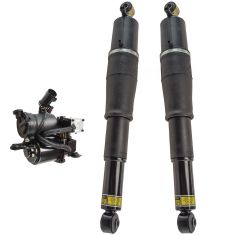 00-06 GM Full Size SUV; 03-06 Avalanche Air Ride Compressor w/Rear Air Shocks Kit (3 Piece Set)