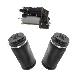 07-12 MB GL-series; 06-11 ML-series Air Ride Compressor w/Rear Air Spring Kit (3 Piece Set)