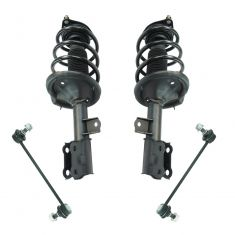 10-13 Kia Forte Front Strut & Spring Assembly & Sway Bar Link Kit (4pc)