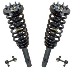 08-12 Honda Accord 2.4L Front Strut & Spring Assembly Pair w/ Links (4pc)