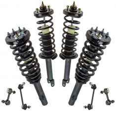 08-12 Honda Accord 2.4L Front & Rear Strut & Spring Assembly Set w/ Links (8pc)
