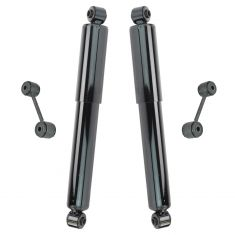 91-07 Chrysler T&C, Dodge Caravan, Voyager Rear Shock Absorber Pair w/ Links (4pc)