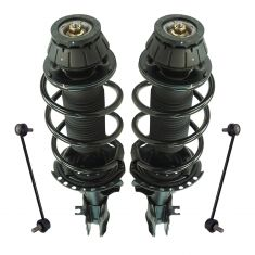 12-14 Hyundai Accent Front Strut & Spring Assembly w Links Kit (4pc)