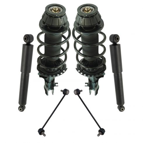 Front Pair Quick Complete Strut /& Coil Spring Assembly for 2002-2005 Kia Rio