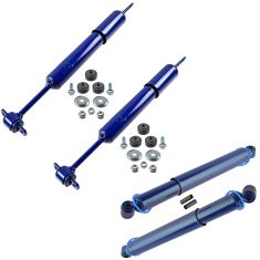 98-11 Rngr; 98-08 B3000; 98-09 B4000 (w/4WD & Tors S) Ft & Rr Sh Abs Kit (Set of 4) (Mon Matic-Plus)