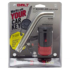 BOLT: 07-18 GM w/Class 3, 4, 5 Hitch (2-2.5 In Square Recvr) 5/8 In Receiver LOCK PIN (Uses OE Key)