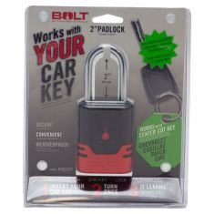 BOLT: Chevy, Cad, Buick, GMC Multifit (2 In Chrome Plated 5/16 Dia) Padlock (Uses OE Center Cut Key)