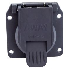towing electical connector 7-way on vehicle bolt in replacment style (curt)
