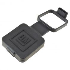 07-15 GM Multifit w/2 In Tow Hitch Receiver Blk Rub Mld ~GM~ Logoed Hitch Closeout Cover (GM)