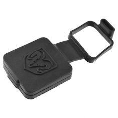 Dodge, Ram Multifit w/Class 2 Hitch Raised ~RAMS HEAD~ Logoed Receiver Plug Cover (Mopar)