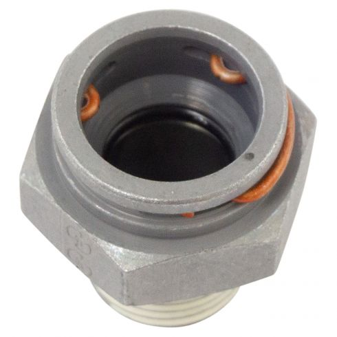 90-02 Chevy, GMC Engine Oil Cooler Line to Engine Block; 3/8 In. x 18 Thread to Quick Connect (DM)