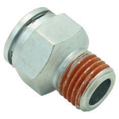 96-08 GM; 97-03 Isuzu; 99-08 Workhorse Transmission Line Connector w/ 3/8 Tube x 1/4-18In. Thrd (DM)