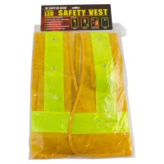 Reflective Safety Vest w/16 LED Lights (Requires Two AA Batteries Not Included) (Large)