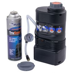 TRUE SEAL: 12 Volt Hybrid Tire Inflator w/16 OZ Aerosol Tire Sealant