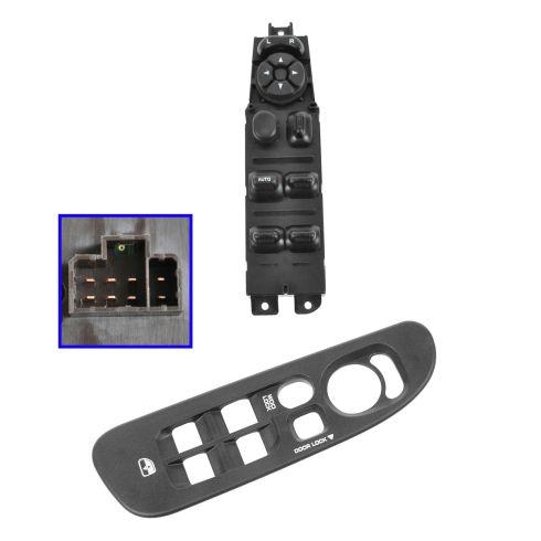 02-05 Dodge Ram 1500; 03-05 Ram 2500, 3500 Master Power Window Switch & Dark Gray Bezel Kit LF