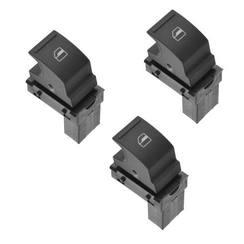 05-10 VW Jetta RF, LR = RR; Power Window Switch Set of 3 (Volkswagen)