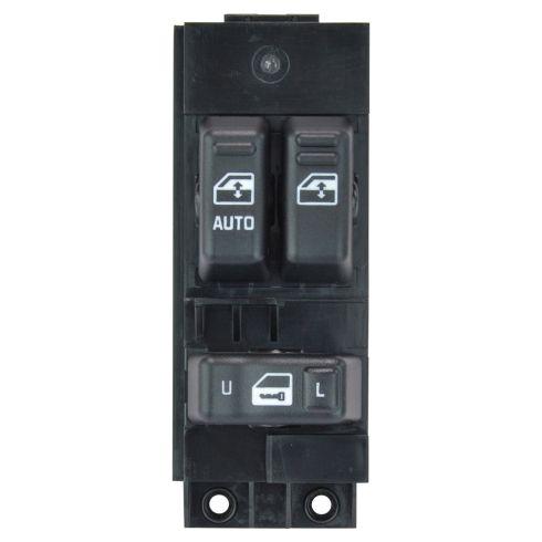 99-02 Silverado, Sierra 1500-3500 (exc Crew Cab) Black 3 Button Master Pwr Window Switch LF