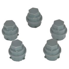 99-06 Buick; 97-08 Chevy; 01-10 Pontiac; 00-02 Saturn (M24-2.0 x 32.5mm) Gray Lug Nut Cap (Box of 5)