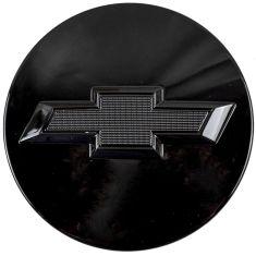 07-16 Chevy FS PU, SUV (3 Inch O.D.) Black ~Chevy Bowtie~ Logoed Wheel Center Cap (GM)