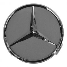 98-14 Mercedes Benz C CL CLK CLS E G GL GLK M R S SL SLK Class Titanium/Chrome Center Cap (MB)