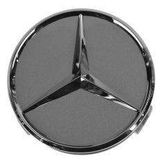 98-14 Mercedes Benz C CL CLK CLS E G GL GLK M R S SL SLK Class Titanium/Chrome Center Cap (MB)